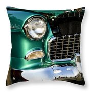 1955 Chevy Bel Air Grill Throw Pillow