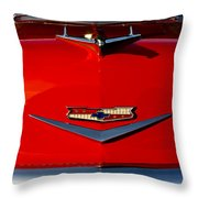 1955 Chevy Bel Air Hood Ornament Throw Pillow