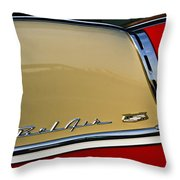 1955 Chevy Bel Air Side Panel Throw Pillow