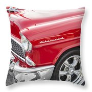 1955 Chevy Cherry Red Throw Pillow