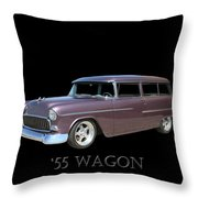1955 Chevy Handyman Wagon Throw Pillow