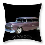 1955 Chevy Handyman Wagon Throw Pillow