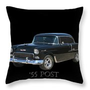 1955 Chevy Post Throw Pillow