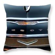 1956 Desoto Hood Ornament 2 Throw Pillow