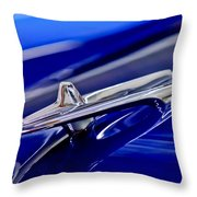1955 Desoto Hood Ornament 3 Throw Pillow