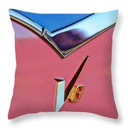 1955 Dodge Royal Lancer V8 Emblem -0639c Throw Pillow