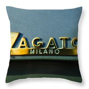 1955 Fiat 8v Zagato Emblem Throw Pillow