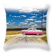 1955 Ford Crown Victoria Crossroads In Life Throw Pillow