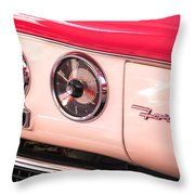 1955 Ford Crown Victoria Fordomatic Emblem Throw Pillow