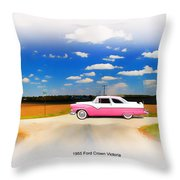 1955 Ford Crown Victoria Sweet Throw Pillow