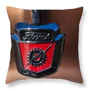 1955 Ford Emblem Throw Pillow