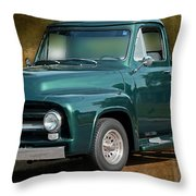 1955 Ford Truck Throw Pillow