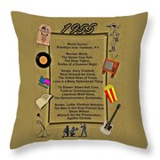 1955 Great Events Throw Pillow