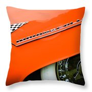1955 Lincoln Indianapolis Boano Coupe Emblem -0295c Throw Pillow