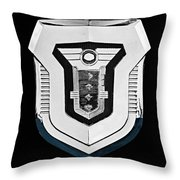 1955 Mercury Montclair Convertible Emblem Throw Pillow
