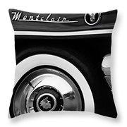 1955 Mercury Montclair Convertible Wheel Emblem Throw Pillow