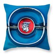 1955 Mercury Monterey  Emblem Throw Pillow