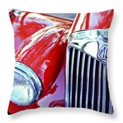 1955 Mg Tf 1500 Grille Throw Pillow