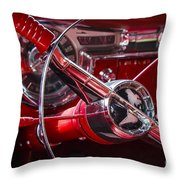 1955 Oldsmobile Dash Throw Pillow