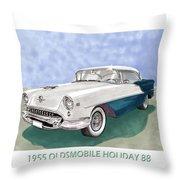 1955 Oldsmobile Holiday 88 Throw Pillow