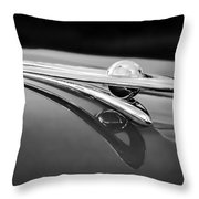 1955 Packard Clipper Hood Ornament 5 Throw Pillow