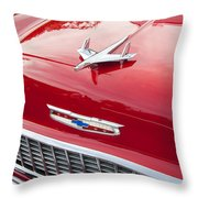 1955 Red Chevy Throw Pillow