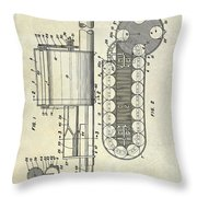 1955 Rocket Launcher Patent Drawing Throw Pillow