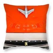 1955 Studebaker Champion Conestoga Custom Wagon Hood Ornament - Grille Emblem -0325c Throw Pillow