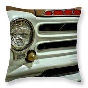 1955 Studebaker Headlight Grill Throw Pillow