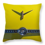 1955 Studebaker Starliner Emblem Throw Pillow