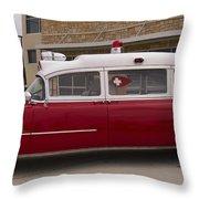 1955 Superior Cadillac Passenger Ambulance Throw Pillow