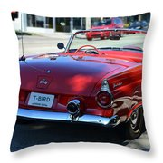 1955 T-bird Throw Pillow by Laura Fasulo