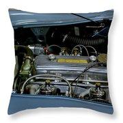 1956 Austin Healey Engine Throw Pillow