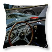 1956 Austin Healey Interior Throw Pillow