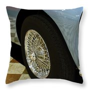 1956 Austin Healey Wheel Throw Pillow