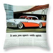 1956 - Buick Roadmaster Convertible - Advertisement - Color Throw Pillow