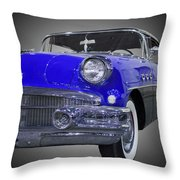 1956 Buick Special Riviera Coupe-blue Throw Pillow