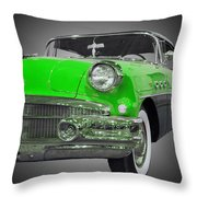 1956 Buick Special Riviera Coupe-green Throw Pillow