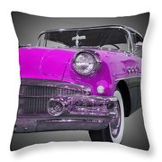 1956 Buick Special Riviera Coupe-purple Throw Pillow