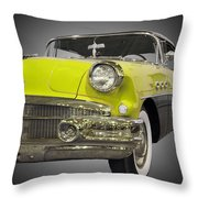 1956 Buick Special Riviera Coupe-yellow Throw Pillow