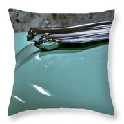 1956 Cadillac Lasalle Hood Ornament Throw Pillow