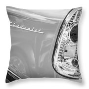 1956 Chevrolet 210 2-door Handyman Wagon Taillight Emblem -074bw Throw Pillow