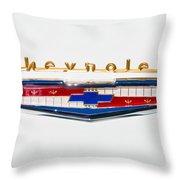 1956 Chevrolet 210 Emblem Throw Pillow