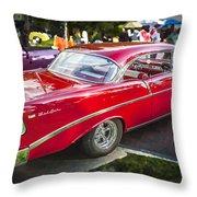 1956 Chevrolet Bel Air 210 Throw Pillow