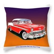 1956 Chevrolet Bel Air Ht Throw Pillow