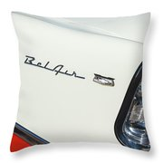 1956 Chevrolet Belair Coupe Taillight Throw Pillow