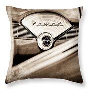1956 Chevrolet Belair Nomad Dashboard Emblem Throw Pillow