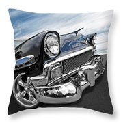 1956 Chevrolet With Blue Skies Throw Pillow
