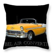 1956 Chevy Bel Air Convertible Throw Pillow