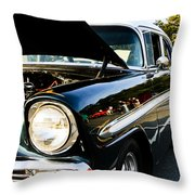 1956 Chevy Bel Air Down The Side Throw Pillow